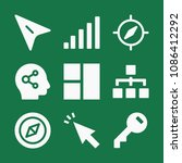 filled set of 9 interface icons ...   Shutterstock .eps vector #1086412292