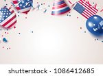 4th of july. usa independence... | Shutterstock .eps vector #1086412685