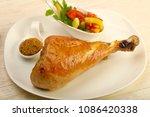 Roast Turkey Leg With Salad