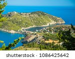 greece  kefalonia island  assos. | Shutterstock . vector #1086425642