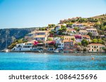 greek island kefalonia. assos... | Shutterstock . vector #1086425696