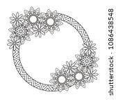 flowers decorative frame.... | Shutterstock .eps vector #1086438548