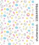 sweets vectorn pattern  candies ... | Shutterstock .eps vector #1086444986