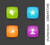 set of 4 seaside icons set.... | Shutterstock .eps vector #1086447248