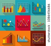 economic policy icons set. flat ... | Shutterstock . vector #1086456686