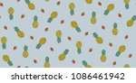 seamless tropical pattern in... | Shutterstock .eps vector #1086461942