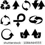 vector set of different useful... | Shutterstock .eps vector #1086464555