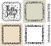 set of xmas black and white... | Shutterstock . vector #1086467858