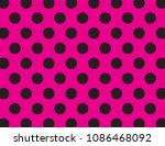 Pink And Black Polka Dot...