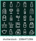 set of 25 drink outline icons... | Shutterstock .eps vector #1086471386