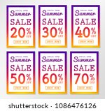 collection of multicolored... | Shutterstock .eps vector #1086476126