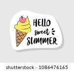 pastel coloured summer label in ... | Shutterstock .eps vector #1086476165