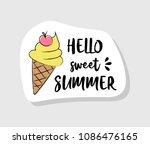 pastel coloured summer label in ... | Shutterstock .eps vector #1086476165