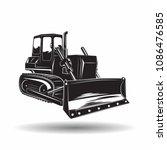 heavy bulldozer machine... | Shutterstock .eps vector #1086476585