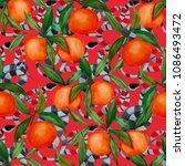 watercolor seamless pattern... | Shutterstock . vector #1086493472
