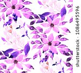 watercolor seamless pattern... | Shutterstock . vector #1086495596