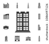 residential building icon.... | Shutterstock .eps vector #1086497126