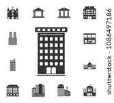 residential building icon.... | Shutterstock .eps vector #1086497186