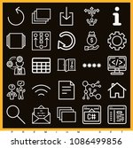 set of 25 web outline icons...   Shutterstock .eps vector #1086499856