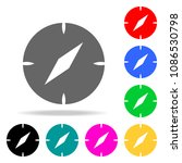 compass icons. elements of...
