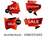 summer sale isolated vector... | Shutterstock .eps vector #1086531602