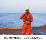 seaman ab or bosun on deck of... | Shutterstock . vector #1086532592