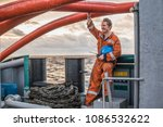 marine deck officer or chief... | Shutterstock . vector #1086532622