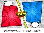 comic book versus template... | Shutterstock .eps vector #1086534326