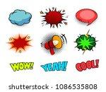 comic book sound effect speech...   Shutterstock .eps vector #1086535808