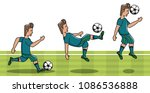 soccer player on camp field | Shutterstock .eps vector #1086536888