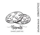 vector hand drawn biscuit icon... | Shutterstock .eps vector #1086537422