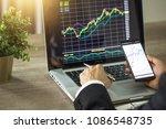 making trading online on the... | Shutterstock . vector #1086548735