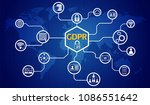 gdpr concept  general data... | Shutterstock .eps vector #1086551642