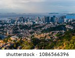 view from the top of a favela   ... | Shutterstock . vector #1086566396