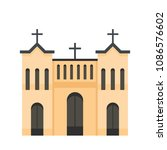 protestant church icon. flat... | Shutterstock .eps vector #1086576602