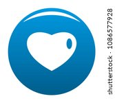 three dimensional heart icon.... | Shutterstock .eps vector #1086577928