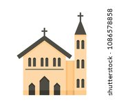 church icon. flat illustration... | Shutterstock .eps vector #1086578858