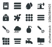 black vector icon set water tap ...