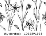 seamless flower pattern... | Shutterstock .eps vector #1086591995