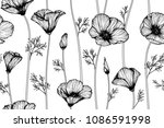seamless flower pattern... | Shutterstock .eps vector #1086591998