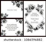 vintage delicate invitation... | Shutterstock . vector #1086596882