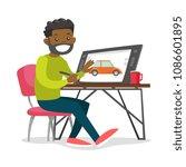 a black man graphic designer or ...   Shutterstock .eps vector #1086601895