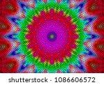 abstract kaleidoscope... | Shutterstock . vector #1086606572