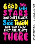 good friends are like stars ... | Shutterstock .eps vector #1086608705