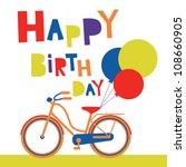 Greeting Card With Cute Bike....