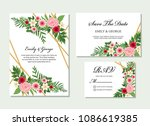 wedding invitation  invite ... | Shutterstock .eps vector #1086619385