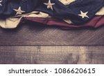 a vintage american flag or...