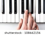 a piano player viewed from above | Shutterstock . vector #108662156