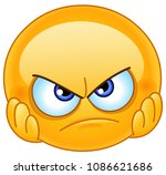 disappointed emoticon with... | Shutterstock .eps vector #1086621686