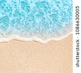 soft wave of blue ocean on... | Shutterstock . vector #1086630005